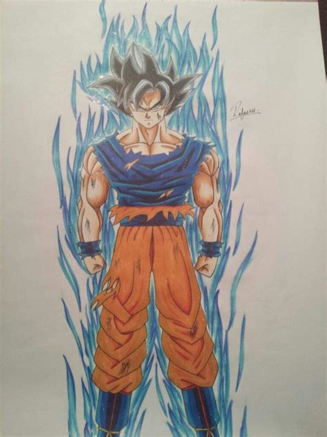 Ultra Instinct Goku Drawing drawing goku ultra instinct dragonballz amino