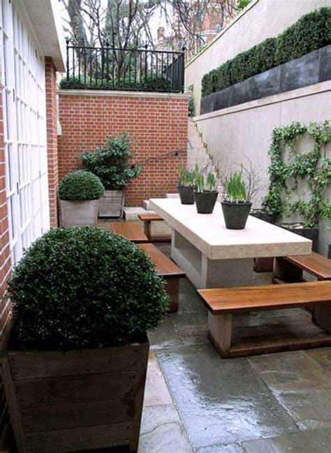 clever design ideas  narrow  long outdoor spaces
