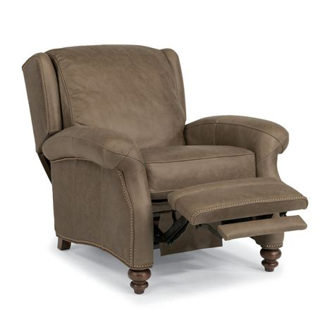 Discount Leather Recliners by Flexsteel 1248 50p Wallace Leather Power High Leg Recliner