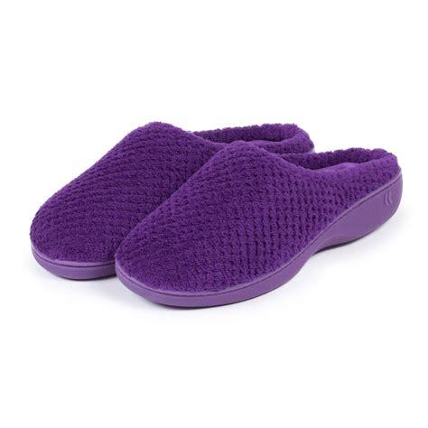 mule slippers isotoner popcorn terry mule slippers ebay