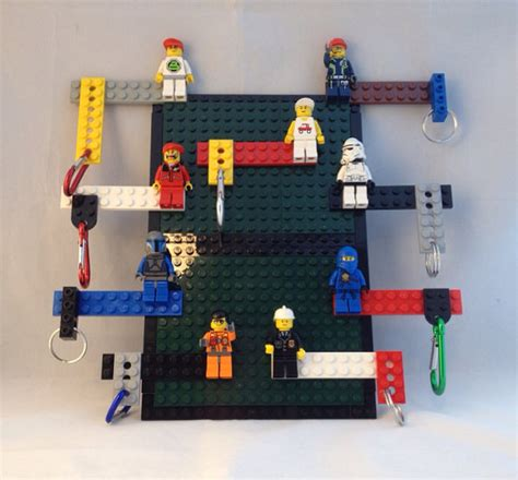 lego minifigure holder lego keychain and usb cable holder for your desk wall or
