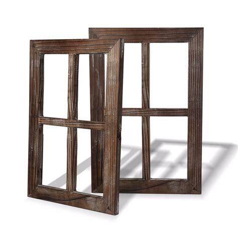 cuadros madera marcos ventana cuadros decoracion madera rustica set de 2