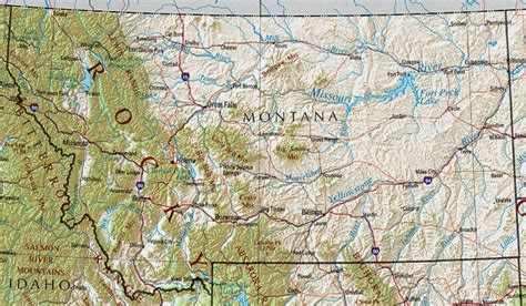 geographical map of montana montana reference map