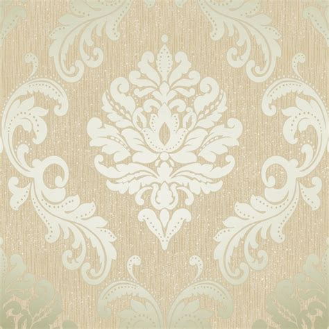 gold wallpaper designs uk henderson interiors chelsea glitter damask wallpaper cream