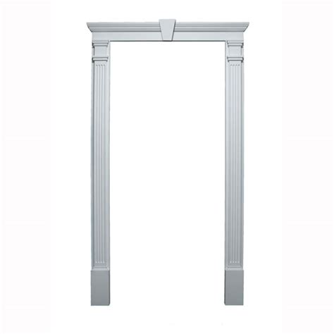 Exterior Door Trim Kit with Fypon Ltd 20020 Door Trim Kit Crosshead Pilaster Keystone Included For Door Sizes 36 Quot W