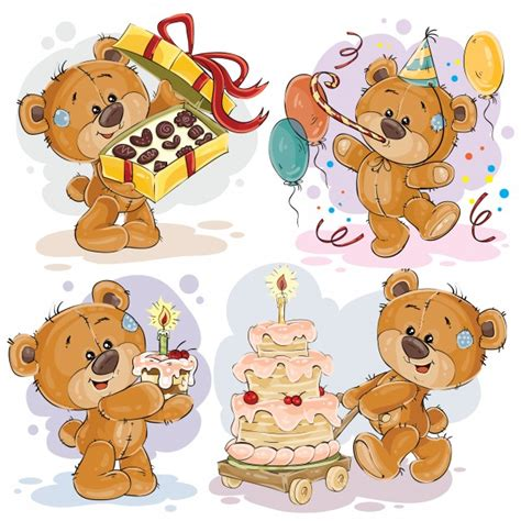 clipart compleanno gratis clip illustrations of teddy wishes you a happy