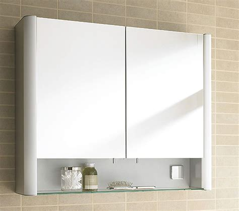 Duravit 600 X 660mm 2 Door And Open Shelf Mirror Cabinet Mirrored Bathroom Cabinet With Shelves