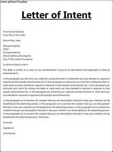 letter of intent template free word templates