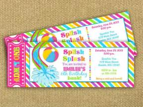 awe inspiring birthday pool party invitations which is
