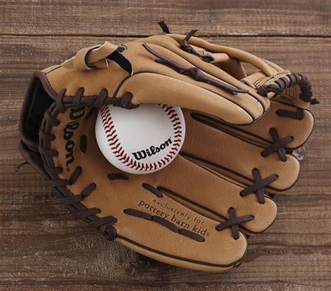 Pottery Barn Baseball L wilson baseball glove pottery barn