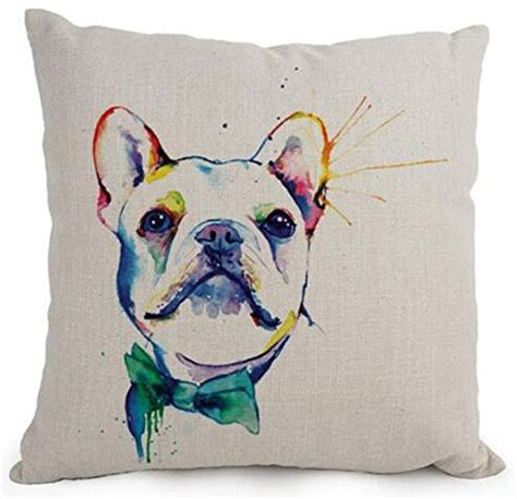 Fabric Painting Designs For Pillow Cases by Compare Price Bulldog Cushions On Statementsltd