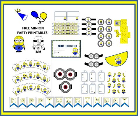 minion birthday card template the bug free minion themed printables