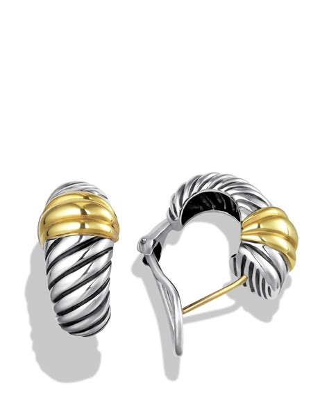 david yurman cable classics earrings with gold in metallic