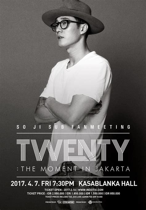 tiket so ji sub jakarta so ji sub brings his quot twenty quot the moment fan meeting to