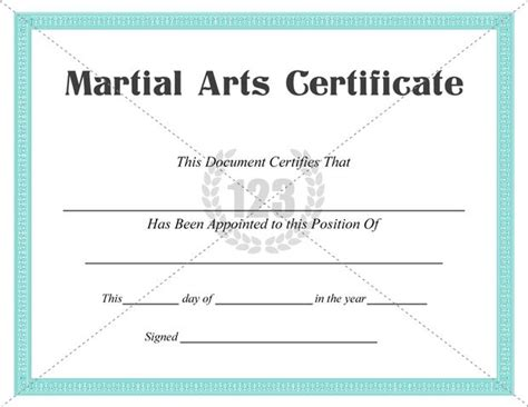 free martial arts certificate templates best martial arts certificate templates for free
