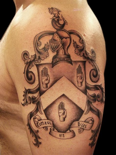 tattoo ideas to honor family 25 powerful shield tattoo designs
