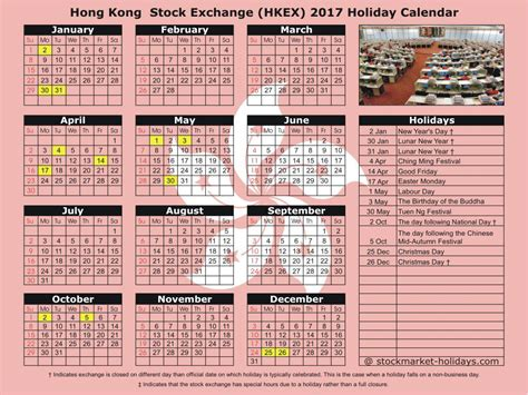 hong kong stock exchange 2017 2018 holidays hkex
