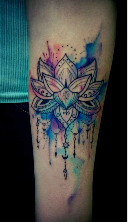 watercolor tattoos on