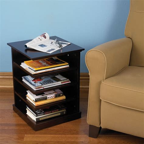 Readers End Table the organized reader s end table hammacher schlemmer