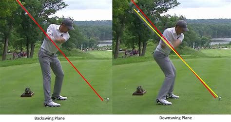 causes of over the top golf swing easy swing plane m lord