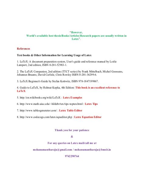 latex tutorial paragraphs write thesis in latex zimmer prosthesis for hips