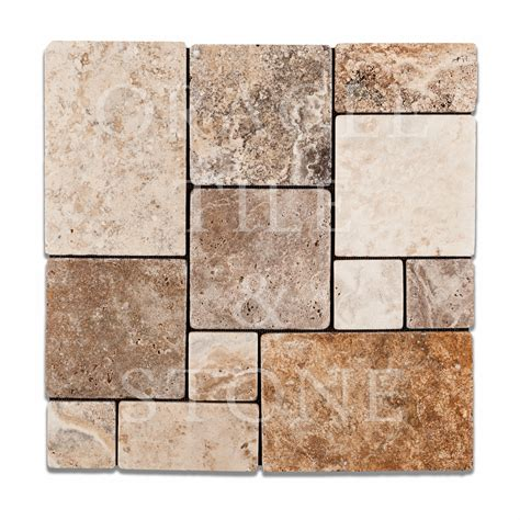 opus pattern travertine tiles andean cream travertine opus mini pattern mosaic tile