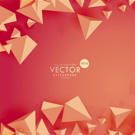 vector background abstract 3d triangle background on background