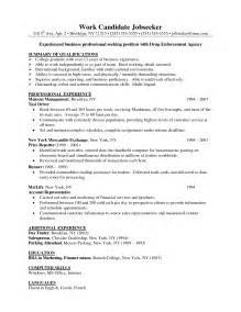 Business Format Resume by Single Page Resume Template