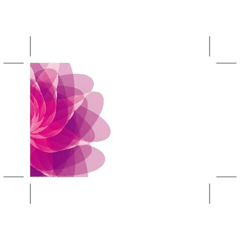 Flower Templates For Card by Pink Flower Card Template At Vectorportal