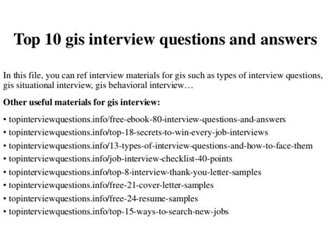 top 10 gis questions and answers