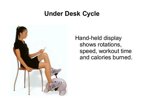 exercise while sitting at desk with the desk bike