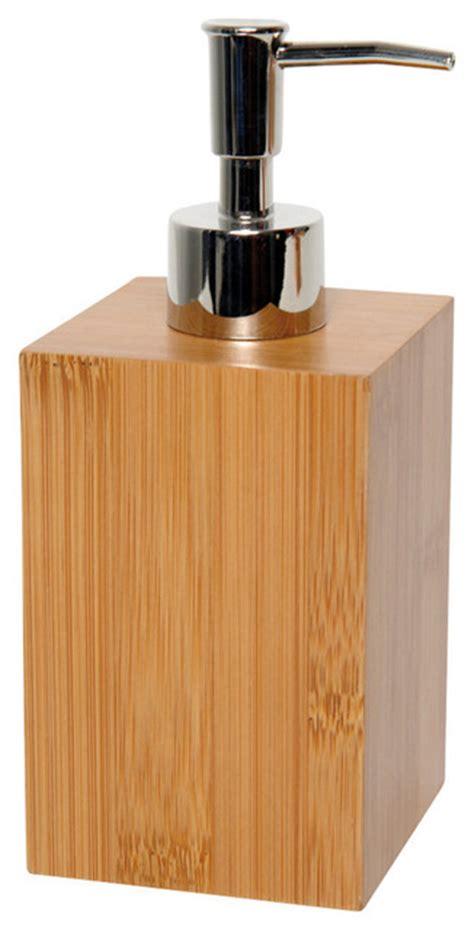 lotion dispensers bathroom brown bamboo ecobio square soap dispenser contemporary soap lotion dispensers
