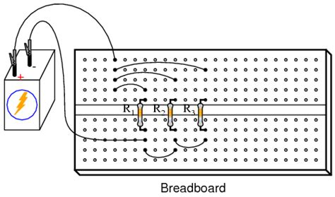 connecting resistors in parallel on a breadboard lessons in electric circuits volume vi experiments chapter 3