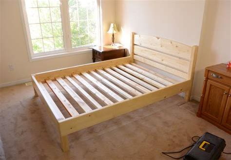 2x4 bed frame queen size bed from 2x4 lumber