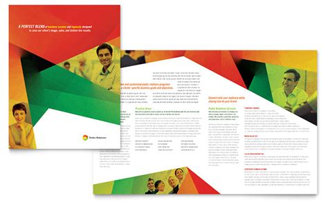 relations company brochure template design