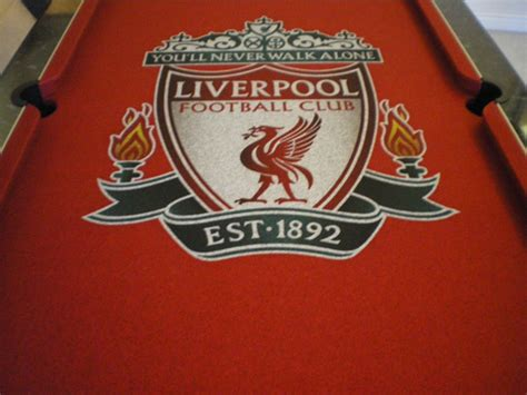 Design Custom Liverpool Fc 016 pool table cloth with liverpool football club badge in