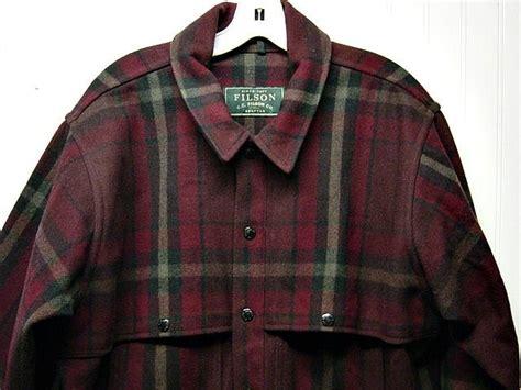 Lp Navy Dan Maroon filson 100 yukon wool maroon navy blue olive green plaid cape field coat jacket 199 99 via