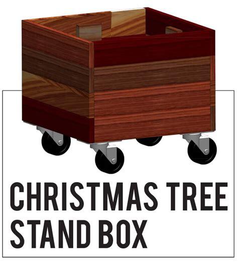 rustic christmas tree stand box gray house studio