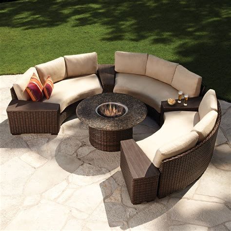 circular outdoor sofas modern outdoor wicker circular patio sectional with
