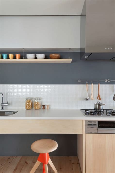 Japanese Kitchen Tiles Two Apartments In Modern Minimalist Japanese Style