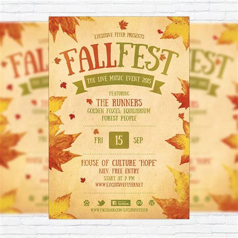 Fall Festival Flyer Template Printable Flyers In Word Fall Fall Party Invitations Festival Fall Flyer Template