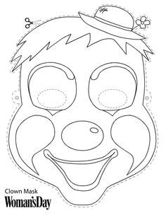 jester mask template 1000 images about clowns on circus clown