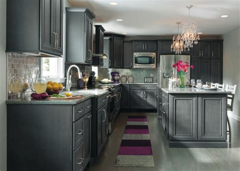 dark gray stained oak cabinets grey cabinets can bring a modern feel to a kitchen just