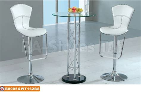 glass top bar table set modern bar set high bar table with glass top and two white bar stools