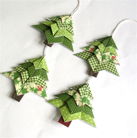Origami Tree Decorations - creative artificial three hanger from beautiful
