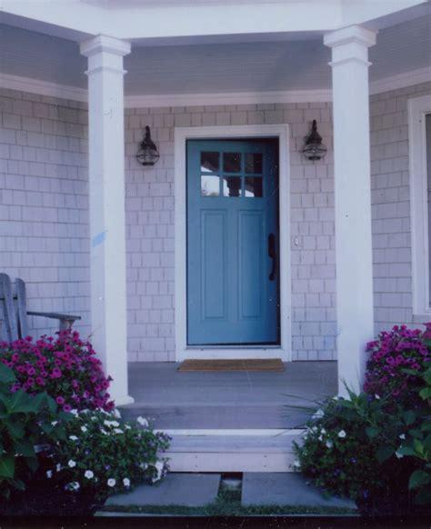 Blue Gray Front Door Gray House White Trim Blue Door Exterior Design Doors Front Doors And Blue