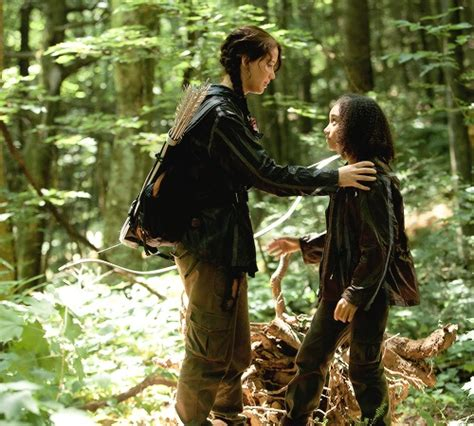 katniss and rue the hunger games photo 38803460 fanpop