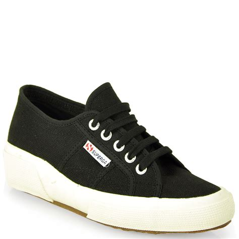 wedge sneakers superga canvas wedge sneaker in black lyst