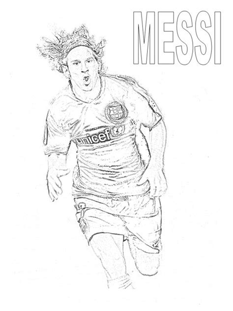 messi coloring pages selfcoloringpages com