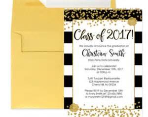 graduation invitations pink and gold graduation invitation
